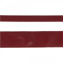 Disquette 15m sangle simili cuir 10mm Bourgogne
