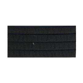 Bobine 10m sangle matelassée 35mm Noir