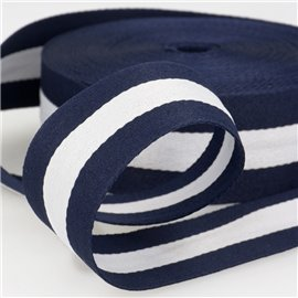 Film 25m galon stripes 40mm Bleu/Blanc