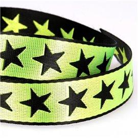 Bobine 25m galon étoiles 25mm Vert anis