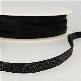 Bobine 30m Elastique métal lisière 10mm Noir