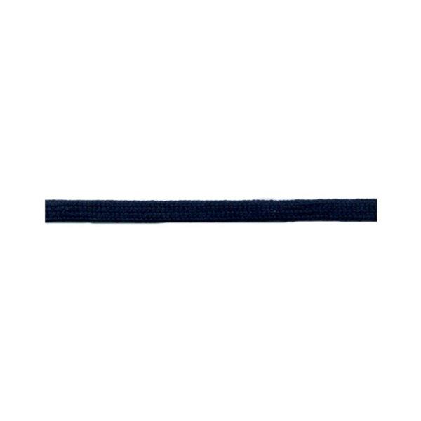 Bobine 50m queue de rat tubulaire polyester 5mm Bleu marine