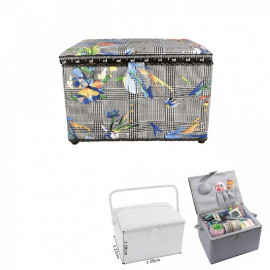 Boîte à couture rectangulaire 29x21x20cm Tropical tulipes