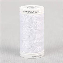 Bobine fil blanc polyester 500m Oeko-Tex
