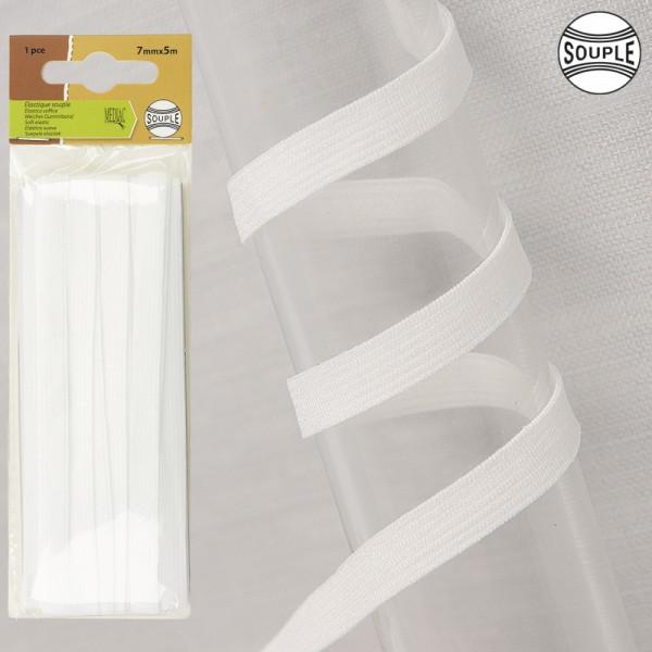 Elastique souple 3mm blanc