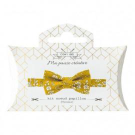 Kit noeud papillon en tissu Liberty jaune