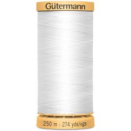 Fil à coudre 100% coton Gütermann 250m blanc