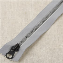 Fermeture reflechissante non separable Blanc 15cm