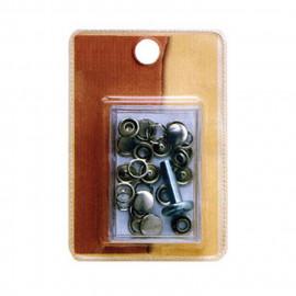 6 boutons pression 11mm noirs pour tissus légers