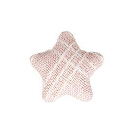 Bouton étoile tissus 24mm rose
