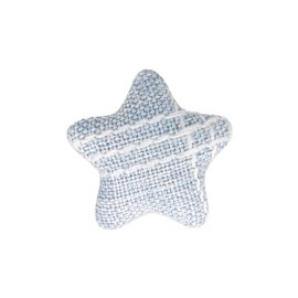 Bouton étoile tissus 24mm bleu