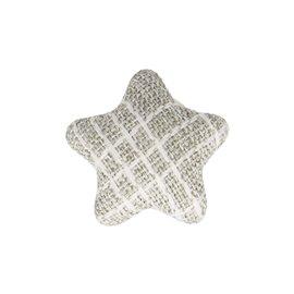 Bouton étoile tissus 24mm gris