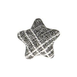 Bouton étoile tissus 24mm noir