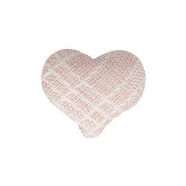 Bouton coeur tissus 22mm rose