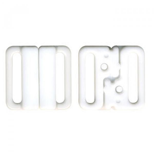 3 sets attache bikini maillot de bain 20mm blanc
