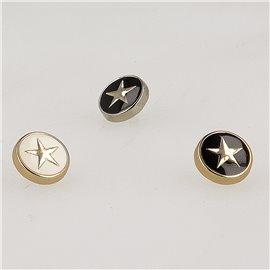 Bouton étoile 10mm